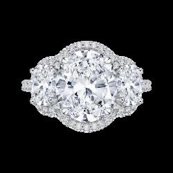18K White Gold 1 1/2 Ct Diamond Cariz...