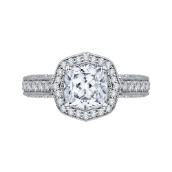 18K White Gold 1Ct Diamond Carizza Boutique Bridal Ring