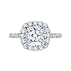 18k White Gold 1 ct Diamond Carizza Boutique Bridal Ring