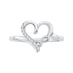 10K White Gold .06 ct. Diamond Fashion Ring