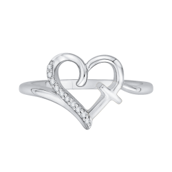 10K White Gold .04 ct. Diamond Fashion Ring