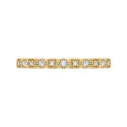 10K Yellow Gold .11 ct Diamond Fashion Ring