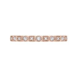 10K Rose Gold .11 ct Diamond Fashion Ring
