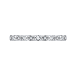 10K White Gold .11 ct Diamond Fashion Ring