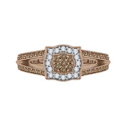 10K Rose Gold 3/8 ct Diamond Fashion Ring