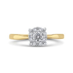 10K Yellow Gold 1/4 Ct Diamond Fashion Ring