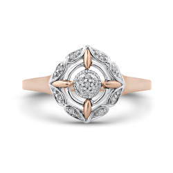 10K White & Rose Gold .06 Ct Diamond Fashion Ring