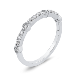 10K White Gold 1/5 Ct Diamond Fashion Ring