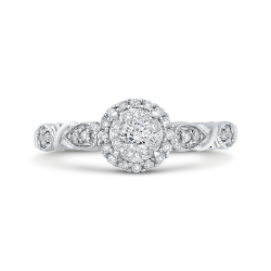 10K White Gold 1/3 Ct Diamond Fashion Ring