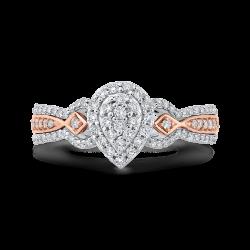 1/2 ct Round Diamond 10K Two-Tone Gold Fashion Ring