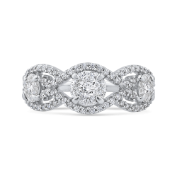 10K White Gold 3/4 ct White Diamond Fashion Ring