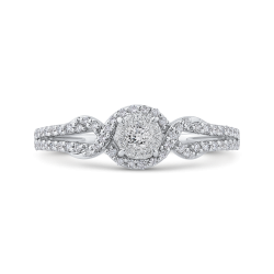 1/3 ct White Diamond Fashion Ring In 10K White Gold
