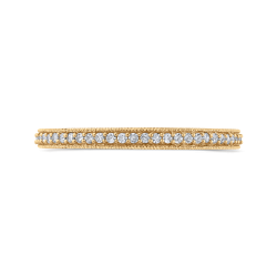 10K Yellow Gold 1/3 ct Round White Diamond Eternity Wedding Band Ring