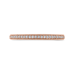 10K Rose Gold 1/3 ct Round White Diamond Eternity Wedding Band Ring