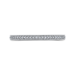 10K White Gold 1/3 ct Round White Diamond Eternity Wedding Band Ring