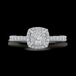 10K White Gold 5/8 ct White Diamond Fashion Ring
