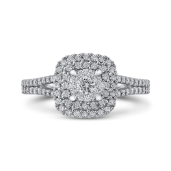 5/8 ct Round White Diamond 10K White Gold Fashion Ring