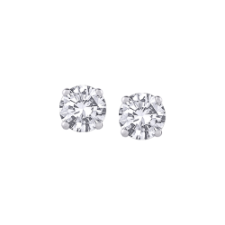 14K White Gold 1/3 Ct Diamond Round Studs