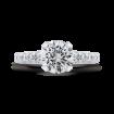 Round Diamond Engagement Ring In 18K White Gold