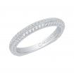 18K White Gold Euro Shank Diamond Wedding Band