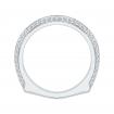 18K White Gold 1/2 Ct Diamond Carizza  Wedding Band