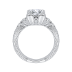 18K White Gold 1/4 Ct Diamond Carizza Semi Mount Engagement Ring to fit Round Center