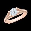18K Rose Gold Brown Diamond Engagement Ring with Split Shank