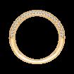 18K Yellow Gold 1/3 Ct Diamond Carizza  Wedding Band