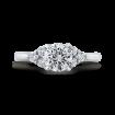 18K White Gold Round Diamond Classic Engagement Ring (Semi-Mount)