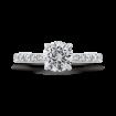 Round Cut Diamond Engagement Ring In Platinum (Semi-Mount)