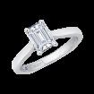 18K White Gold Carizza Semi Mount Engagement Ring  Emerald Center
