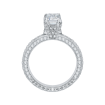 18K White Gold Emerald Diamond Engagement Ring