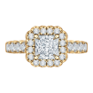 18K Yellow Gold Princess Diamond Engagement Ring