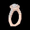18K Pink Gold Cushion Diamond Engagement Ring