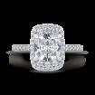 18K White Gold Cushion Cut Diamond Engagement Ring (Semi-Mount)