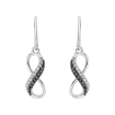 10K White Gold .10 ct. Black & White Diamond Fashion Earrings
