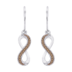 10K White Gold .10 ct. Brown Diamond Fashion Earrings