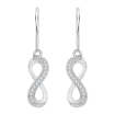 10K White Gold .10 ct. Diamond Fashion Earrings