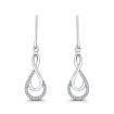 10K White Gold .13 Ct Diamond Fashion Earrings