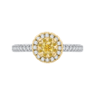 14K Two-Tone Gold 2/3 ct. Diamond Promezza Engagement Ring