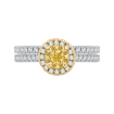 14K Two-Tone Gold 2/3 ct. Diamond Promezza Engagement Ring