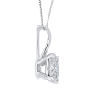 14K White Gold 1/3 Ct Diamond Lecirque Fashion Pendant