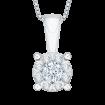 14K White Gold 1/2 Ct Diamond Lecirque Fashion Pendant