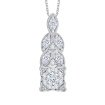 14K White Gold 5/8 Ct Diamond Lecirque Fashion Pendant