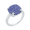 14k white gold 1 1/4 Ct Sapphire Lecirque Fashion Ring