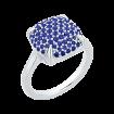 14k white gold 1 1/4 Ct Sapphire Lecirque Fashion Ring