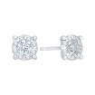 14K White Gold 1/2 Ct Diamond Lecirque Studs Earrings