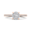 14K Two-Tone Gold Round Diamond Engagement Ring