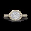 14K Two-Tone Gold Round Diamond Halo Engagement Ring