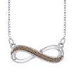 10K White Gold .07 ct. Brown Diamond Fashion Pendant